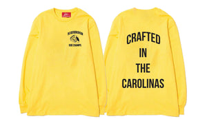 The Crafted In the Carolinas Long Sleeve- Yellow