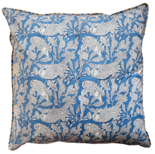 "Load image into Gallery viewer, Cotton Cushion Cover - Parrots Tropical - Square 24"" x 24"" - Inkandblock"