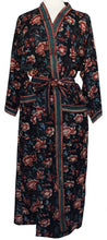Load image into Gallery viewer, Long Kimono - Starburst Rose Black - free size - Anokhi