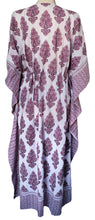 Load image into Gallery viewer, Long Kaftan - Paisley Butah Purple - free size - Anokhi