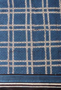 "Hand Block Printed Tablecloth - Madras Indigo - 70"" x 108"""