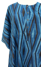 Load image into Gallery viewer, Midi Kaftan - Diamonds Indigo - free size - Anokhi