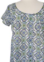 Load image into Gallery viewer, Smock Blouse - Sevilla Emerald - 100% Cotton - Anokhi