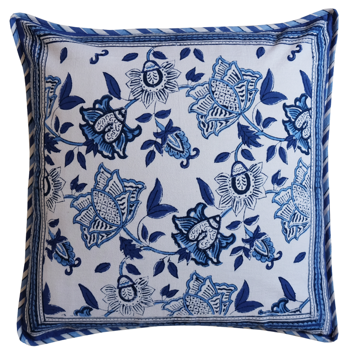 Cotton Cushion Cover - Oriental Garden - Square 18