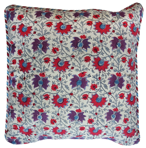 "Cotton Cushion Cover - Petra - Square 18"" x 18"" - Anokhi"