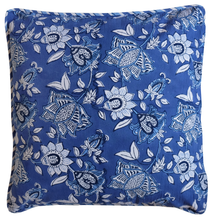 "Load image into Gallery viewer, Cotton Cushion Cover - Oriental Garden - Square 18"" x 18"" - Anokhi"