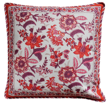 "Load image into Gallery viewer, Cotton Cushion Cover - Provencal Spice - Square 18"" x 18"""