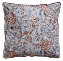 "Load image into Gallery viewer, Cotton Cushion Cover - Tree of Life Blush - Square 18"" x 18"" - Anokhi"