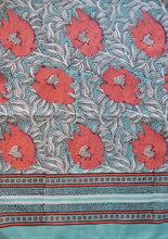 "Load image into Gallery viewer, Hand Block Printed Anokhi Scarf - Poppy Spot - 15"" x 72"" - 100% cotton - Anokhi"