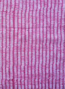 "Hand Block Printed Anokhi Scarf - Dash Red - 12"" x 72"" - cotton/silk"