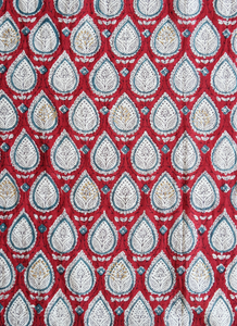 Hand Block Printed Scarf - Sketch Paisley - 100% cotton - Anokhi