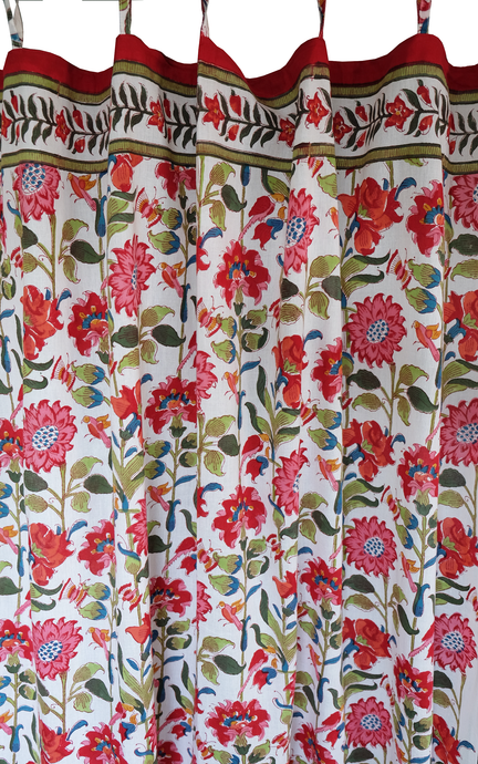 Hand block printed curtain - Samode - cotton - 47
