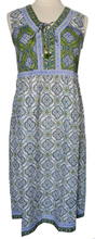 Load image into Gallery viewer, Summer cotton dress - Sevilla Lime - Anokhi