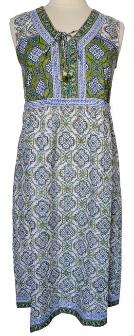 Summer cotton dress - Sevilla Lime - Anokhi