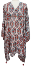 Load image into Gallery viewer, Midi Kaftan Dress - Orchid Butah - free size - Anokhi