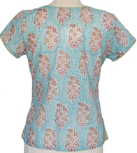 Load image into Gallery viewer, Short sleeved summer top - Persian Booti - Anokhi