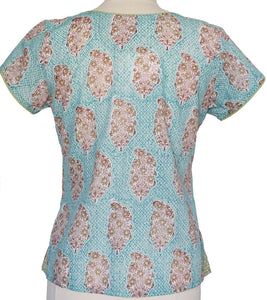 Short sleeved summer top - Persian Booti
