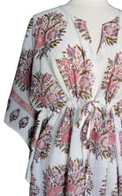 Load image into Gallery viewer, Mini Kaftan - Bouquet White - free size
