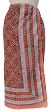 Load image into Gallery viewer, Hand Block Printed Sarong - Farukha Peach - Anokhi