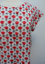 Load image into Gallery viewer, Anokhi printed summer blouse - cotton, scoop neck with button front