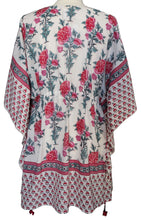 Load image into Gallery viewer, Mini Kaftan - Poppy White - free size
