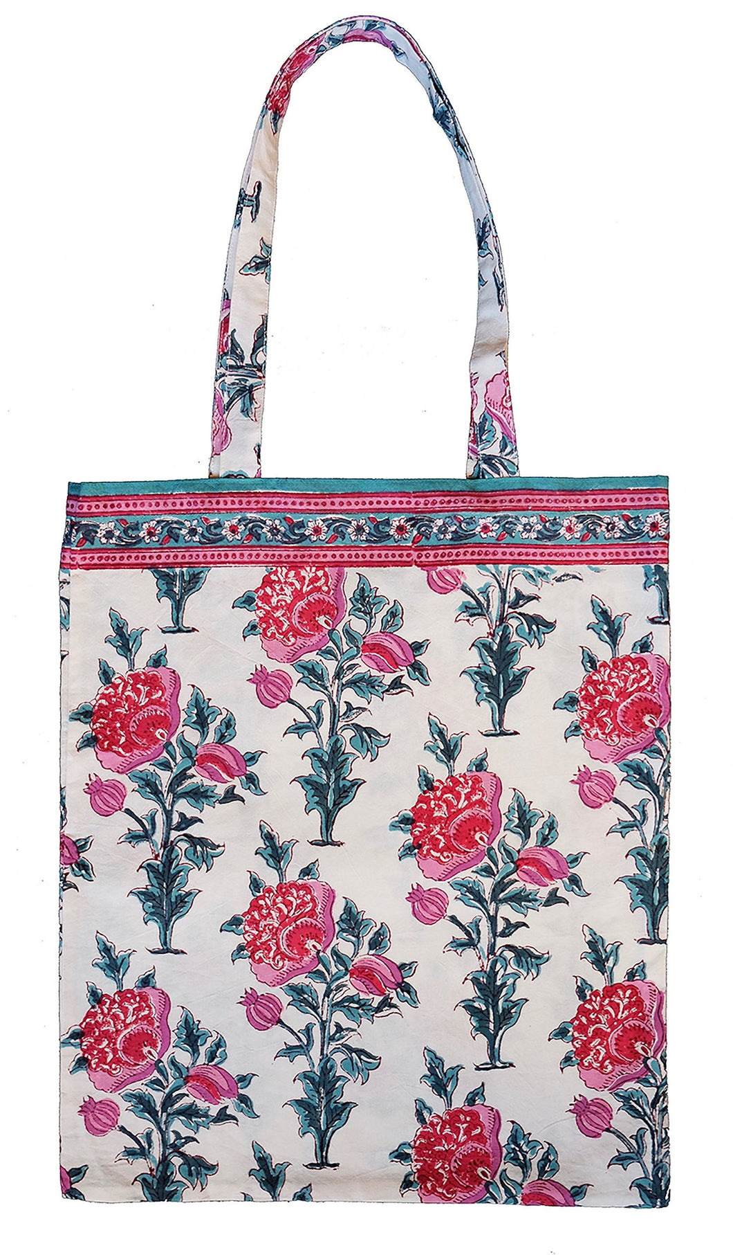 Cotton tote bag - Poppy - Anokhi