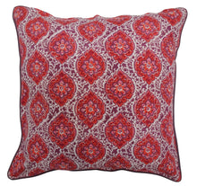 "Load image into Gallery viewer, Cotton Cushion Cover - Provencal Spice - Square 24"" x 24"" - Anokhi"