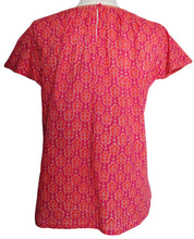 Load image into Gallery viewer, Short sleeved summer top - Hot Pink Booti - Anokhi