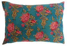 "Load image into Gallery viewer, Cotton Cushion Cover - Poppy - Square 14"" x 20"" - Anokhi"