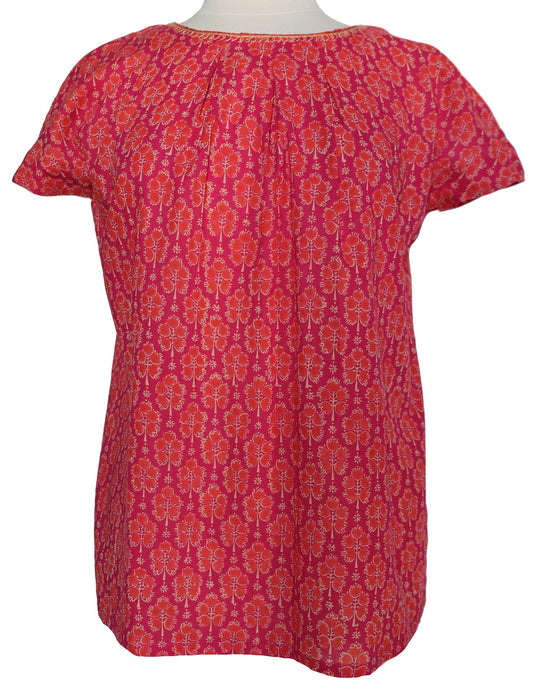 Short sleeved summer top - Hot Pink Booti - Anokhi
