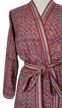 Load image into Gallery viewer, Short Kimono - Rust - free size - Anokhi