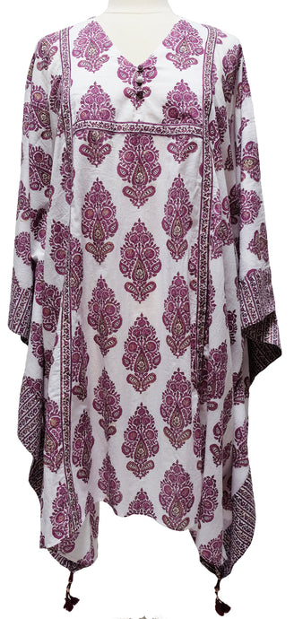 Midi Kaftan Dress- Paisley Tree - free size - Anokhi