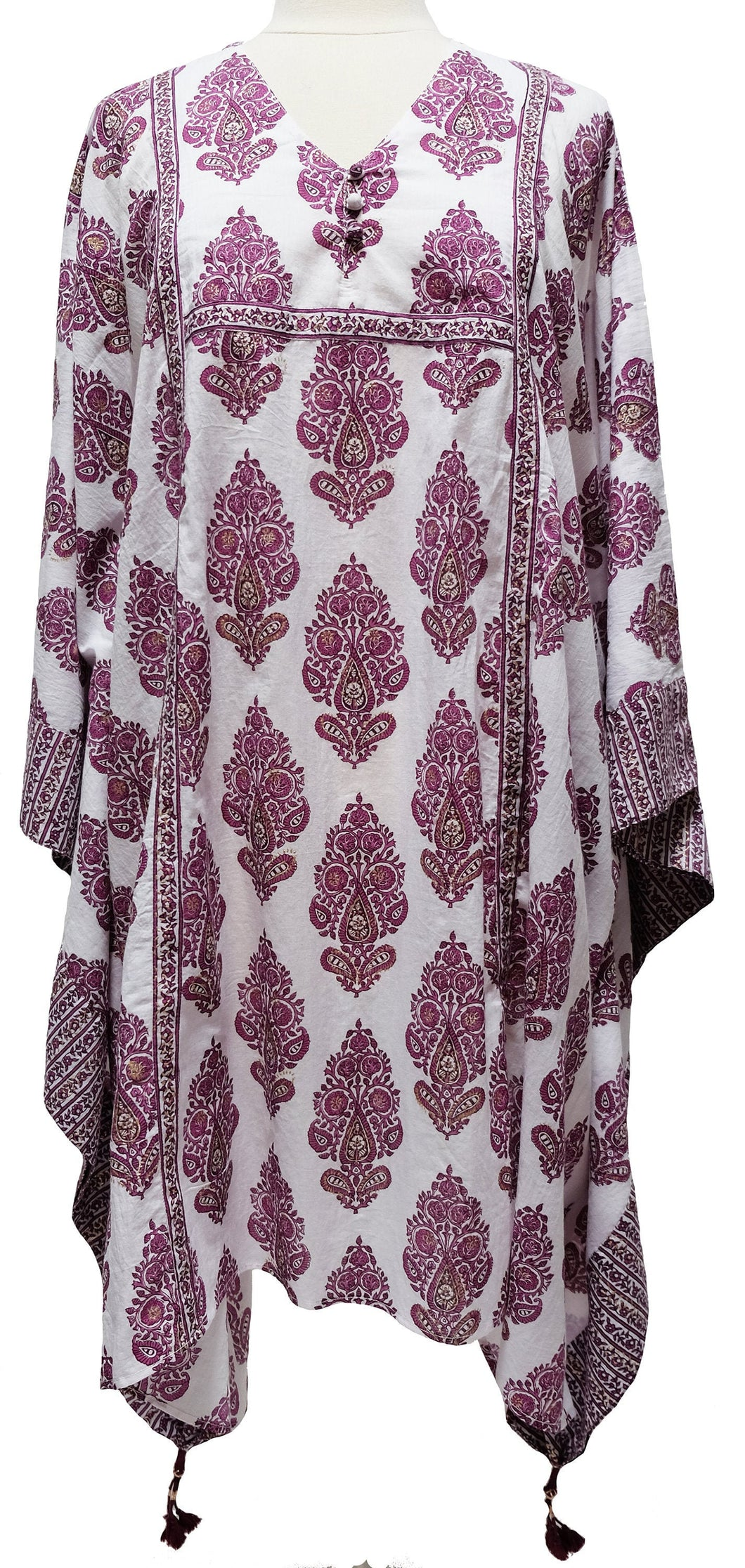 Midi Kaftan Dress- Paisley Tree - free size