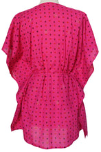 Load image into Gallery viewer, Mini Kaftan - Spots Fucshia - free size - Anokhi