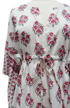 Load image into Gallery viewer, Mini Kaftan - Booti White - free size