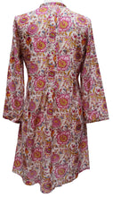 Load image into Gallery viewer, Hand block printed smock top - Pomegranite - Anokhi