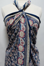 Load image into Gallery viewer, Hand Block Printed Sarong - Flower paisley - Cotton - Anokhi