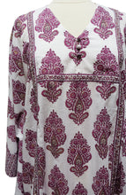Load image into Gallery viewer, Midi Kaftan Dress- Paisley Tree - free size