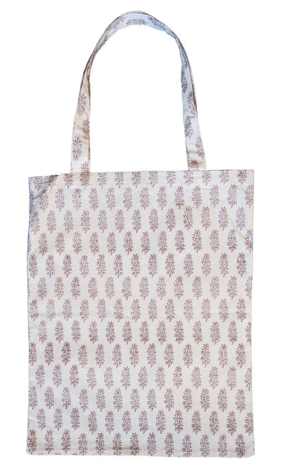Cotton tote bag - Lilac Booti - Anokhi
