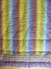 "Load image into Gallery viewer, Mini Reversible Quilt - Lagoon Stripe - 45"" x 56"" - Anokhi"