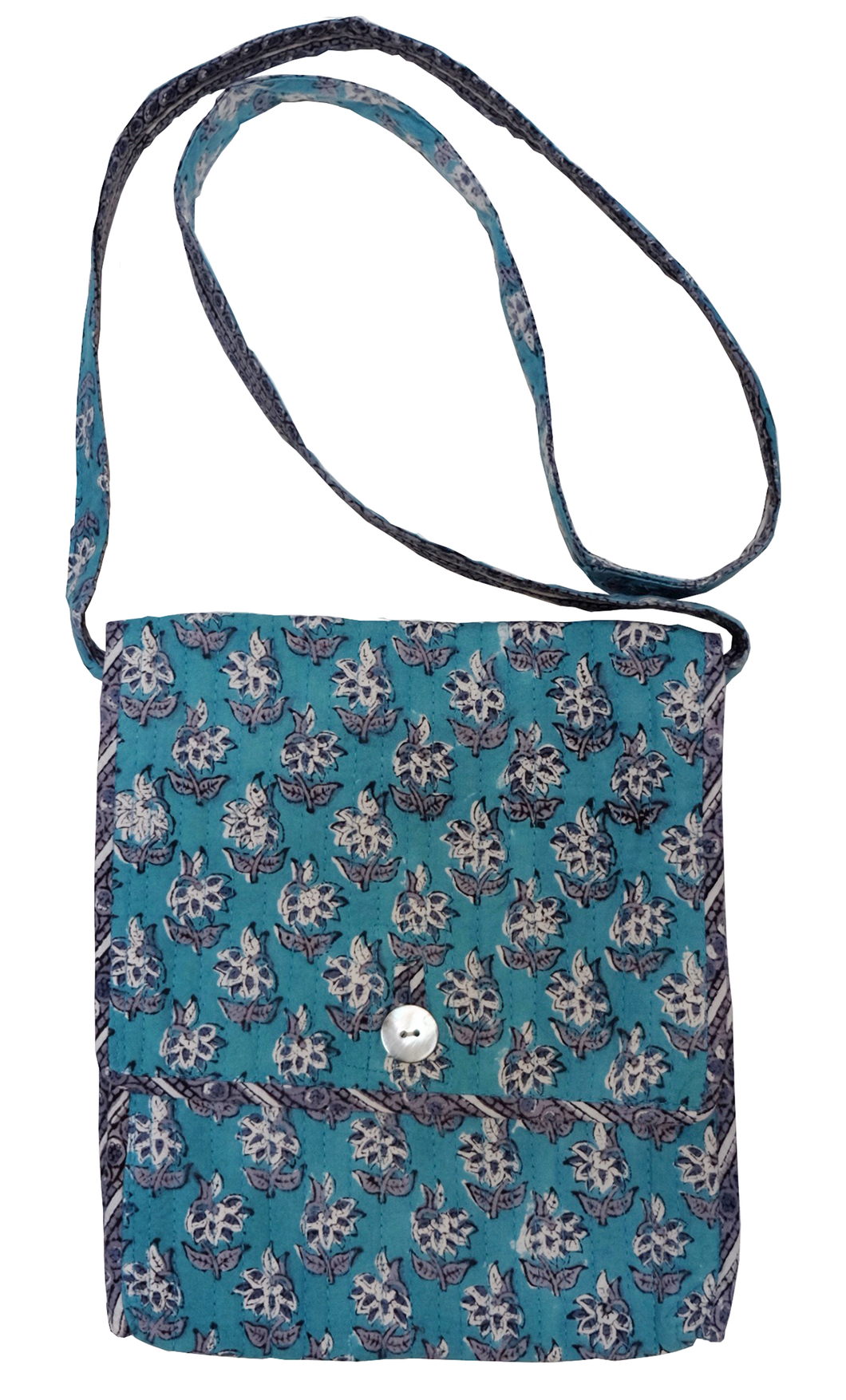 Cotton ipad bag - Starflower Booti - Anokhi