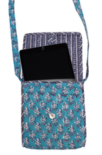 Load image into Gallery viewer, Cotton ipad bag - Starflower Booti - Anokhi