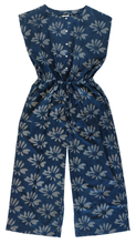 Load image into Gallery viewer, Jumpsuit - Flower Burst Indigo - 100% Cotton - Anokhi