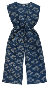Jumpsuit - Flower Burst Indigo - 100% Cotton - Anokhi