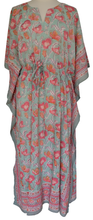 Load image into Gallery viewer, Long Kaftan - Poppy - free size - Anokhi