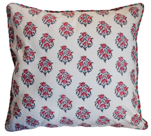 "Load image into Gallery viewer, Large Cotton Cushion Cover - Poppy - Square 24"" x 24"" - Anokhi"