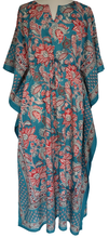 Load image into Gallery viewer, Long Kaftan - Paisley Flower - free size - Anokhi