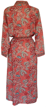 Load image into Gallery viewer, Long Kimono - Paisley Flower - free size - Anokhi