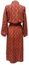 Load image into Gallery viewer, Long Kimono Robe - Bloom Red- free size - Anokhi