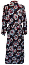 Load image into Gallery viewer, Long Kimono Robe - Sunflower Indigo - free size - Anokhi